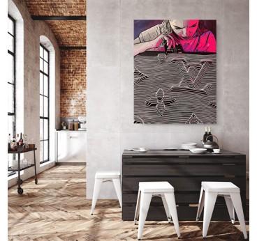 Tableau contemporain de la marque Louis Vuitton par notre artiste Gab pour une décoration murale originale