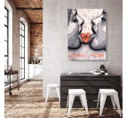 Modern Hermes wall canvas print with a luxury and street art style by the artist ArtMadebyGab for an original wall decoration
