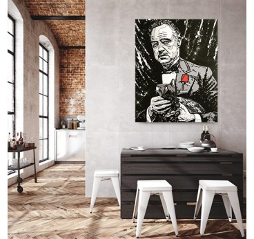 Corleone artist canvas by our artist Gab for a street art and modern wall decoration