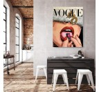 Modern canvas print vogue with a luxury and street art style by the artist ArtMadebyGab for an original wall decoration