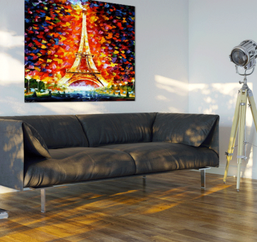 Colorful eiffel tower tableau contemporain - Tableaux pas cher contemporain ...
