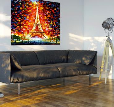 Colorful eiffel tower tableau contemporain - Tableaux pas cher contemporain ...