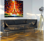 Colorful Eiffel Tower Tableau Contemporain