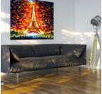 Tableau Contemporain Tour Eiffel en Couleur