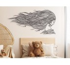 Eco friendly wall decoration Tethys of a woman portrait for a design interior