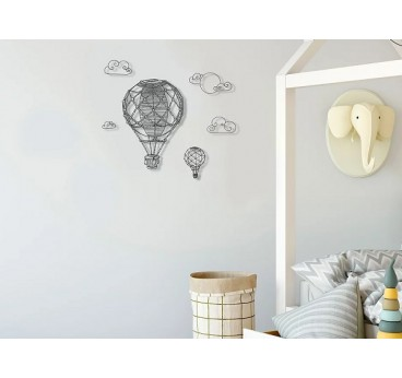 Hot air ballons wall decoration eco friendly with recycled plastic for a design touch into your home