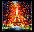 Colorful Eiffel Tower Tableau Contemporain
