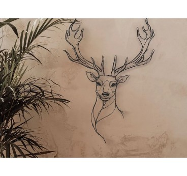 Deer head ethics wall decoration for a modern interior