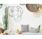 Eco-friendly wall decoration of an elephant head for a modern interior