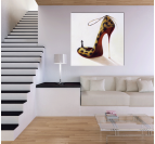 Leopard Woman Shoes Tableau Abstrait
