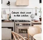 Art mural métallique pour votre cuisine avec la phrase les calories ne comptent pas