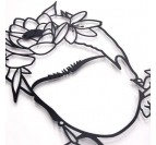 Détails de notre décoration murale métal Frida Kahlo design