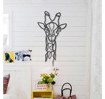 Décoration murale métallique d'une girafe design pour créer une touche animale dans votre intérieur