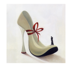 Glamour Woman Shoes Tableau Abstrait