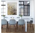 Tableau peinture moderne de branches de palmier en or pour votre décoration murale de salon