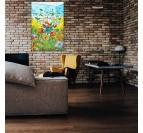Tableau pop art de picsou dans une décoration murale colorée pour un loft ou une chambre