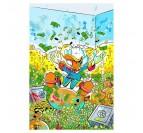 Tableau pop art de picsou dans son argent avec des couleurs uniques pour votre déco murale
