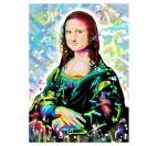 Mona lisa street art canvas print for a design wall decoration