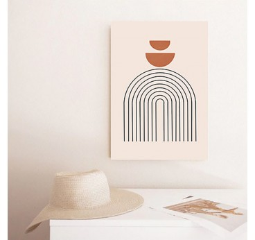 Abstract boho canvas of different shapes for your wall decoration