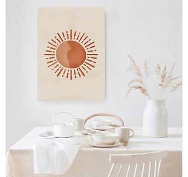 Sun boho canvas print for a contemporay wall decoration