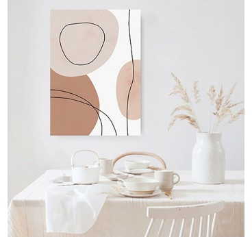 Line art boho wall canvas print for an unique interior
