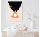 Boho canvas print with a zen woman for a contemporary wall decoration