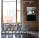 Sailboart art photo on aluminium wall decoration for a modern interior