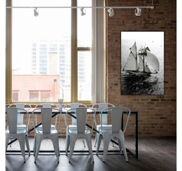 Photo d'art contemporain d'un grand voilier pour votre décoration murale moderne