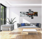 Colorful City Smoke abstract painting