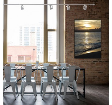Swell landscape art photo on aluminium for a modern wall decoration