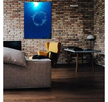 Photo d'art de bulle sous l'eau pour créer une décoration murale contemporaine