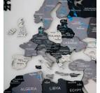 Détails de notre carte du monde bois 3D scandinave