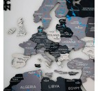Details of our scandinavian 3D world map for wall decoration