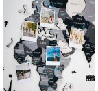 Details of our grey 3D wooden world map
