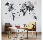 Décoration murale moderne avec notre carte du monde 3D bois scandinave