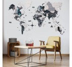 Modern wall decoration with our 3D wooden world map with scandinavian style