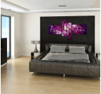 Purple Plant of Life Contemporary Painting