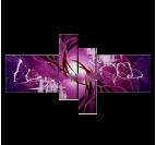 Purple Plant of Life Tableau Contemporain
