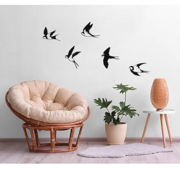 Big birds metal wall decoration for a trendy interior