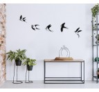 Big birds on a design wall sculpture in metal for living room