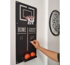 Jeux déco métal basket ball avec ses ballons et score pour votre déco intérieure