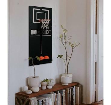 Décoration murale en métal du jeu de basket ball pour une touche ludique et sportive