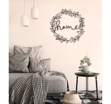 Home flowers metal wall decoration for a boho interior