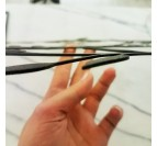 Qualité de notre déco murale métallique carte du monde line art