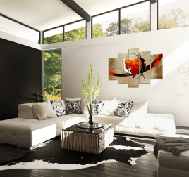 Fall in Love Tableau Contemporain