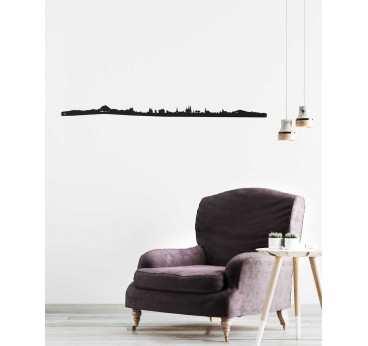 Clermont-Ferrand metal skyline for a trendy wall decoration