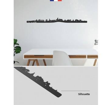 Skyline déco murale métallique de la ville de Montpellier pour votre intérieur