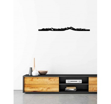 Mont-Blanc wall skyline for a metal wall decoration