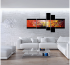Abstract Red Fusion abstract painting