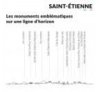 Détails de notre skyline déco métal de Saint-Etienne